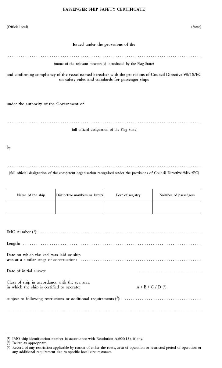 1998 18 Safety Rules And Standards For Passenger Ships 2003 75 Controller Printed Circuit Board Assembly Code A Sheet 1 Of 2 274 Netherlands Regulatory Framework Nerf Maritime