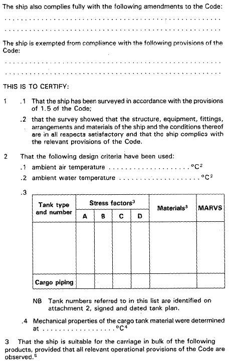 IGC-Code Int  Code for the Construction and Equipment of