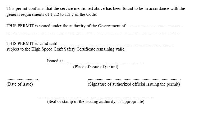 HSC-Code 1994 International Code of Safety for High-Speed Craft (MSC
